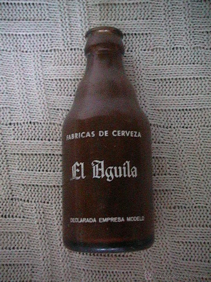 BOTELLA BOTELLÍN CERVEZA EL AGUILA (Botellas y Bebidas - Botellas Antiguas)