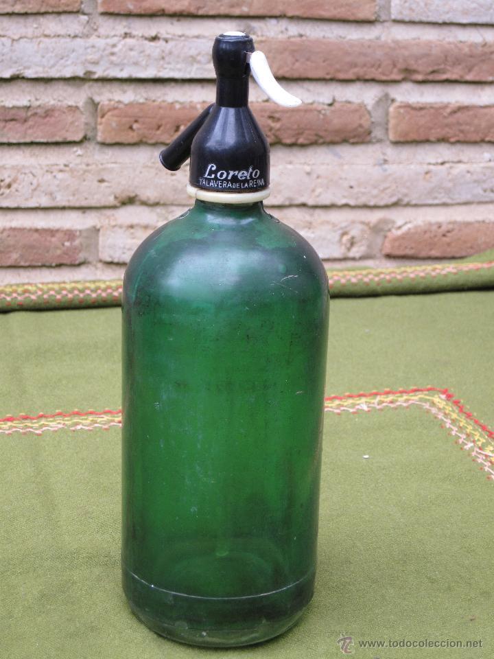 SIFON ANTIGUO MARCA LORETO - TALAVERA DE LA REINA. (Coleccionismo - Botellas y Bebidas - Botellas Antiguas)