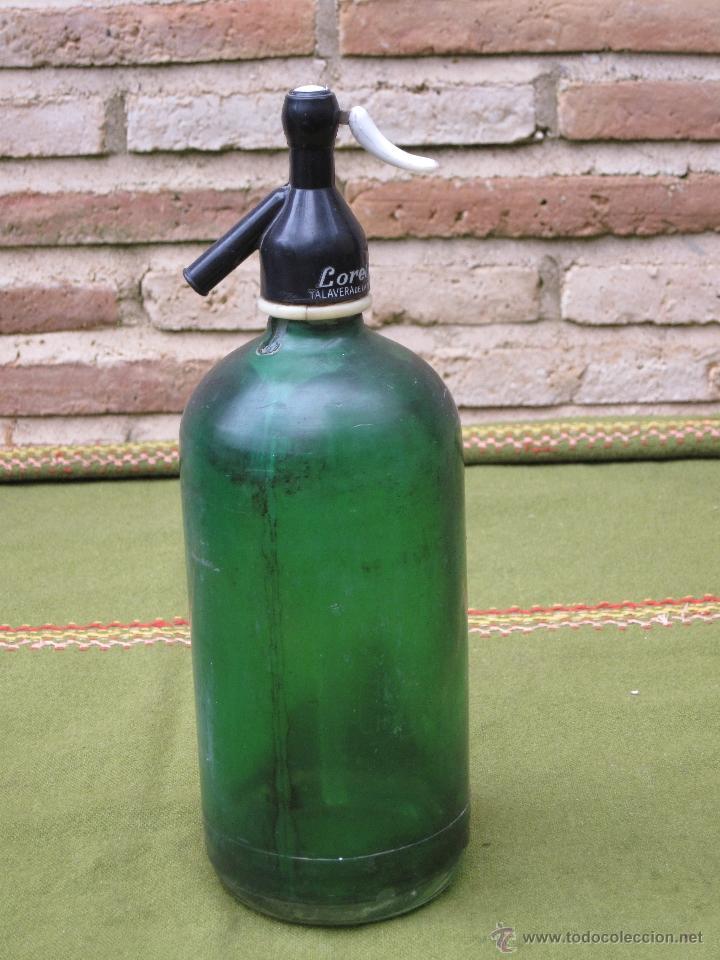 Botellas antiguas: SIFON ANTIGUO MARCA LORETO - TALAVERA DE LA REINA. - Foto 2 - 45712698