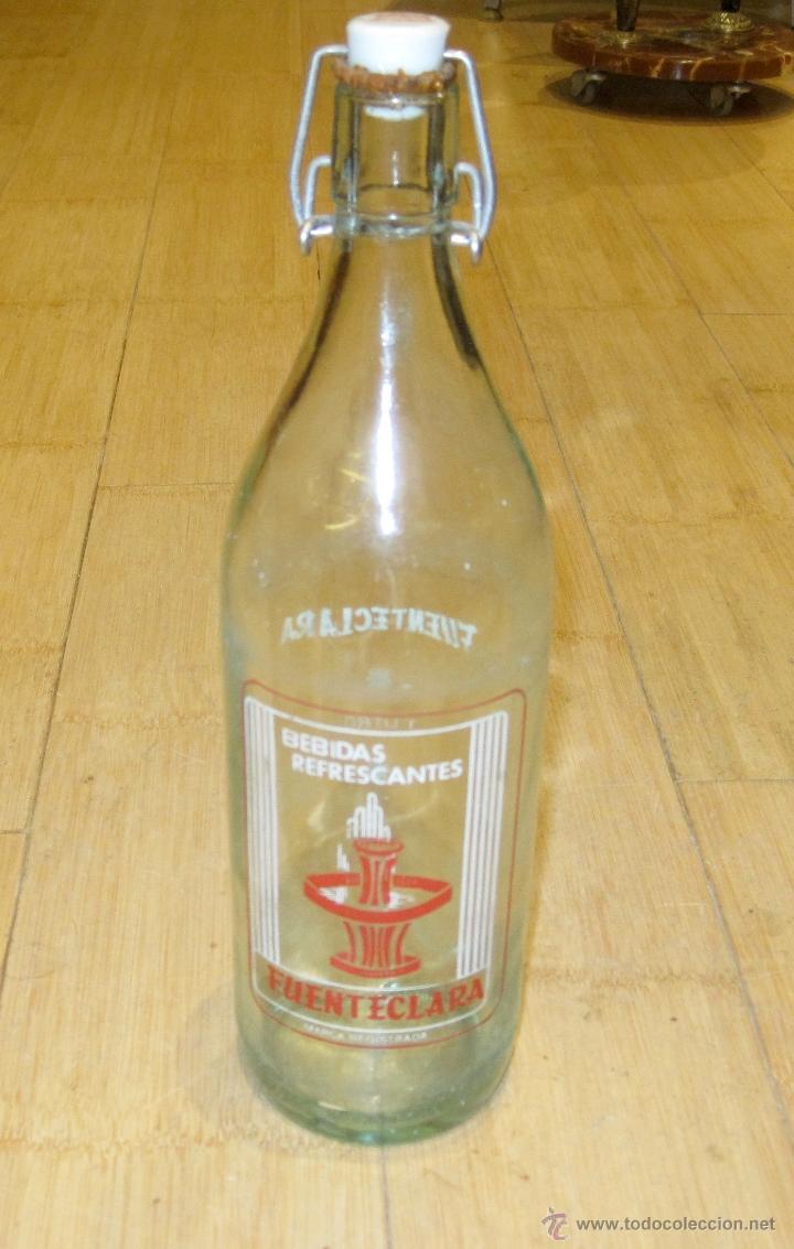BOTELLA GASEOSA FUENTECLARA 1 LITRO (Coleccionismo - Botellas y Bebidas - Botellas Antiguas)