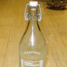 Botellas antiguas: BOTELLA GASEOSA FUENTECLARA 1 LITRO. Lote 45922370