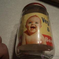 Botellas antiguas: FRASCO TARRO DE CRISTAL DE UN POTITO DE ALIMENTACIÓN INFANTIL BEECH NUT. FINALES DE LOS 60.. Lote 46045320