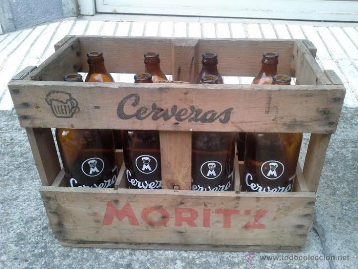 Caja de madera cerveza moritz barcelona cervece comprar botellas antiguas en todocoleccion - Cajas de madera barcelona ...