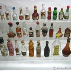 Botellas antiguas: LOTE 36 BOTELLAS MINIATURA BOTELLINES ANTIGUOS. Lote 46423879