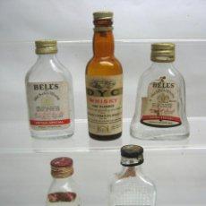 Botellas antiguas: 5 BOTELLINES ANTIGUOS WHISKY. Lote 46423976
