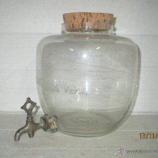 Botellas antiguas: RECIPIENTE DE CRISTAL DISPENSADOR DE COLONIA A GRANEL * PRODUCTOS VERA * CON GRIFO - AÑO 1940S. Lote 46488877