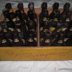 Botellas antiguas: CAJA DE CERVEZA LA ZARAGOZANA AÑOS 60. Lote 46654837