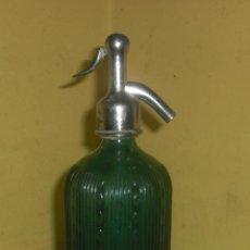 Botellas antiguas: VILELLA VIUDAS CIA. ANTIGUO SIFON CON CABEZAL DE PLOMO (CABEZAL R. TAFALLA). Lote 46965092