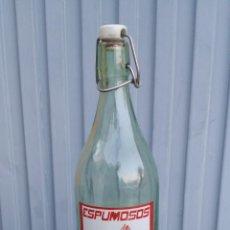 Botellas antiguas: ANTIGUA BOTELLA DE GASEOSA, ESPUMOSOS CANO, EL MOLINO, CAMUÑAS TOLEDO. Lote 47095994