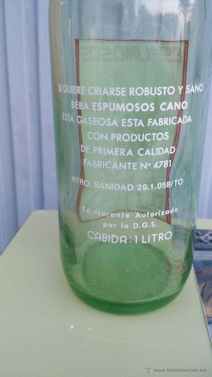 Botellas antiguas: antigua botella de gaseosa, espumosos cano, el molino, camuñas toledo - Foto 3 - 47095994
