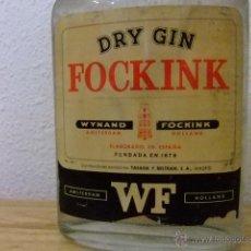 Botellas antiguas: DRY GIN FOCKINK VINTAGE AÑO 1977 UN LITRO. Lote 47286937