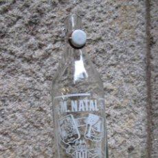 Botellas antiguas: GASEOSA LITRO M. NATAL DE VILLORIA LEON - TAPON CERAMICO SIN MARCA, FTE Nº 3230 LIMPIA. Lote 47737917