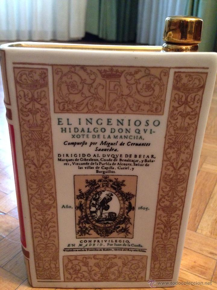 Botella de ceramica whisky quijote quixote en f comprar for Libro in ceramica