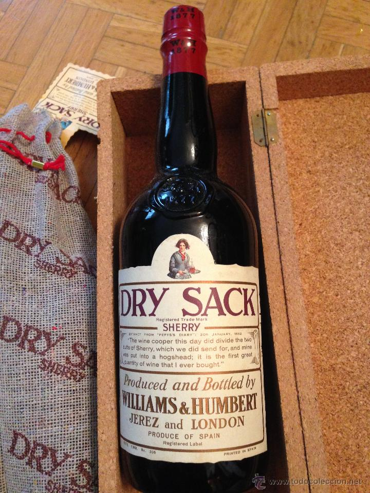Antigua Estuche Y Botella Dry Sack Sherry Willi Buy Antique Bottles At Todocoleccion 47913509
