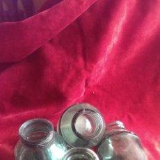 Botellas antiguas: BOTELLAS DE LECHE CONDENSADA EL CASTILLO, AÑOS 50, CRISTAL VERDE, 4 UNIDADES. Lote 78893626