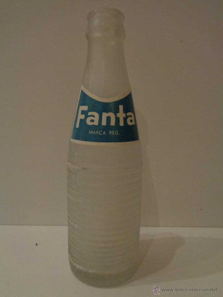 BOTELLA FANTA SERIGRAFIADA AÑOS 70 (Coleccionismo - Botellas y Bebidas - Botellas Antiguas)