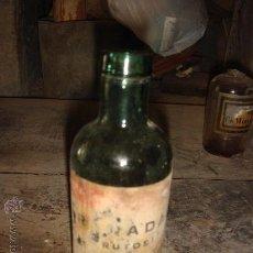 Botellas antiguas: ANTIGUA BOTELLA DE FARMACIA. Lote 27703323