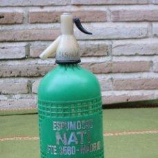 Botellas antiguas: SIFON ANTIGUO DE LA MARCA ESPUMOSOS NATI - MADRID.. Lote 49251989
