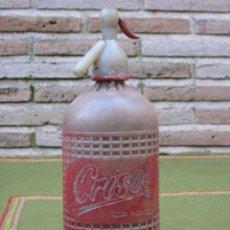 Botellas antiguas: SIFON ANTIGUO DE LA MARCA CRISOL - MORA DE TOLEDO.. Lote 49301459