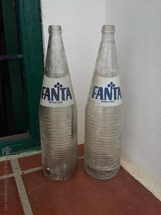 BOTELLA DE LITRO FANTA AÑOS 70 (Coleccionismo - Botellas y Bebidas - Botellas Antiguas)
