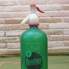 Botellas antiguas: SIFON DE AGUA DE MESA - LA REVOLTOSA. MADRID.-. Lote 49490648