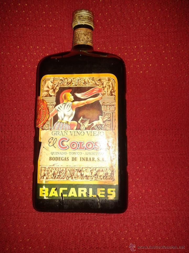 BOTELLA GRAN VINO VIEJO EL COLOSO (Coleccionismo - Botellas y Bebidas - Botellas Antiguas)