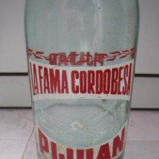 Botellas antiguas: BOTELLA DE REFRESCO PIJUAN LA FAMA CORDOBESA. Lote 49694369