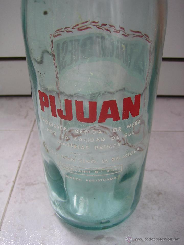 Botellas antiguas: Botella de refresco Pijuan la fama Cordobesa - Foto 3 - 49694369