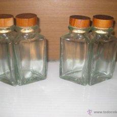 Botellas antiguas: 4 BOTES CRISTAL TRIANGULARES. Lote 50164982