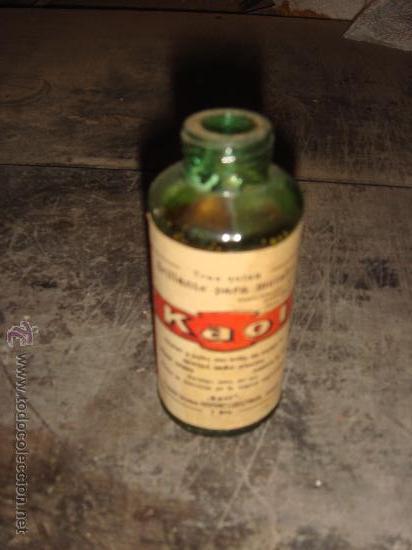 BOTELLA DE LIMPIA METALES KAOL (Coleccionismo - Botellas y Bebidas - Botellas Antiguas)