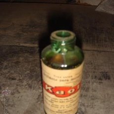 Botellas antiguas: BOTELLA DE LIMPIA METALES KAOL. Lote 27740651