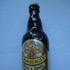 Botellas antiguas: BOTELLA DE CERVEZA GRIMBERGEN GOUD DORÉE. BELGICA. LLENA,33,CL-. Lote 50404326