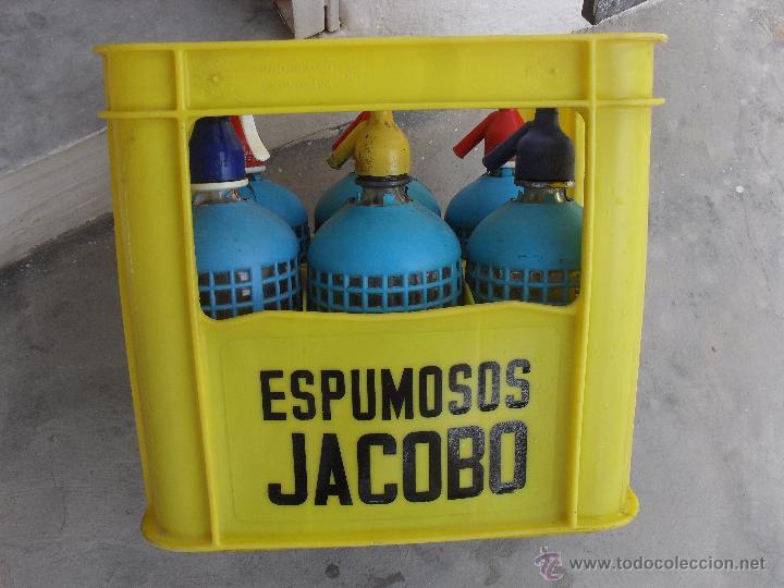 CAJA DE ESPUMOSOS JACOBO CALLOSA DEL SEGURA ,ALICANTE (Coleccionismo - Botellas y Bebidas - Botellas Antiguas)
