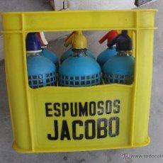 Botellas antiguas: CAJA DE ESPUMOSOS JACOBO CALLOSA DEL SEGURA ,ALICANTE . Lote 50584783