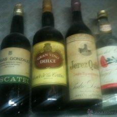 Botellas antiguas: BOTELLAS LLENAS. Lote 50613121