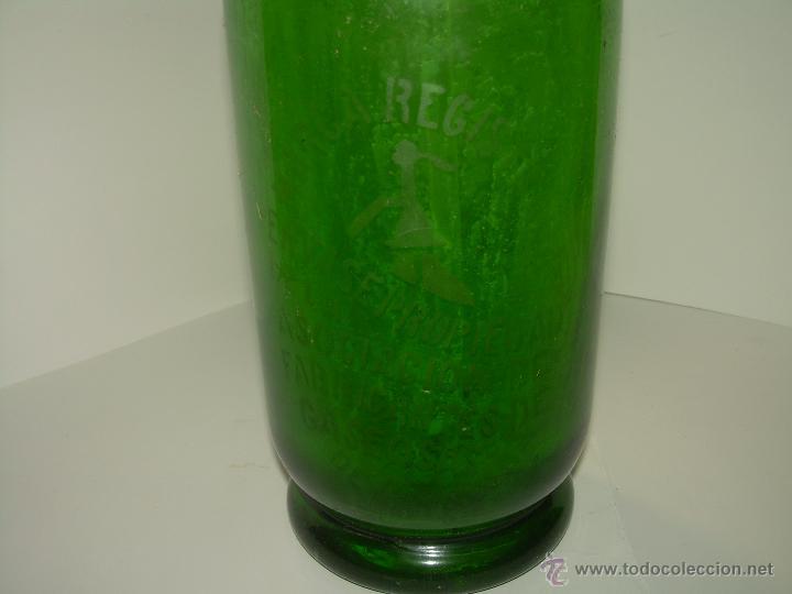 Botellas antiguas: ANTIGUO Y PRECIOSO SIFON EPOCA MODERNISTA....COLOR VERDE. - Foto 2 - 50817961
