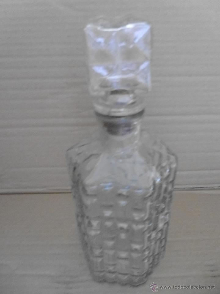 Botellas antiguas: BOTELLA DE CRISTAL PRENSADO mira las fotos - Foto 4 - 50946084