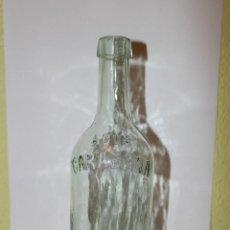Botellas antiguas: ANTIGUA BOTELLA DE AGUA MEDICINAL DE CARABAÑA - TEXTO EN RELIEVE. Lote 51017718