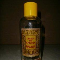 Botellas antiguas: BOTELLA DE AGUA DE COLONIA GALATEA FORMATO 1 LITRO. Lote 51052352