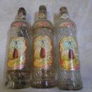 Botellas antiguas: 3 BOTELLAS LOTE ANTIGUAS DE ANIS CASTELLANA , PAPEL PERFECTO ... VER FOTOS . Lote 51123841