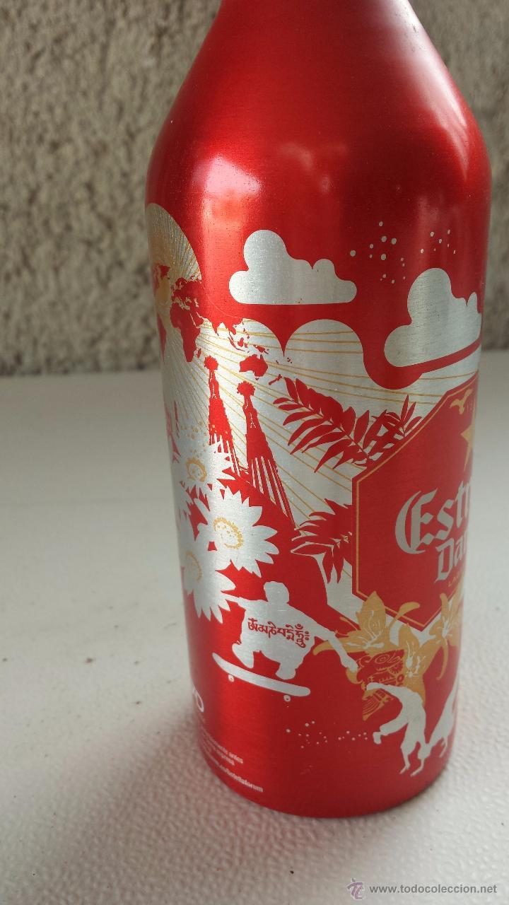 Botellas antiguas: botella de cerveza de aluminio damm, 33 cls. forum barcelona 2004 - Foto 3 - 51194177