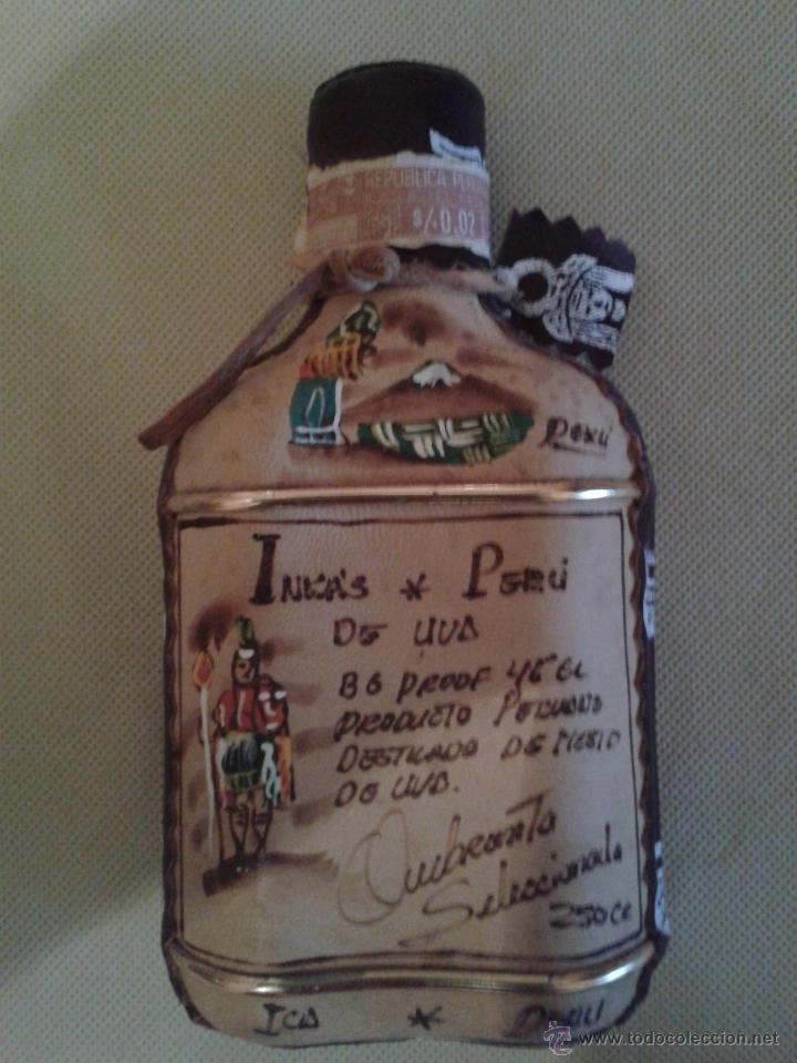 Botellas antiguas: BOTELLA INKAS DE PERU,(MOSTO DE UVA)NUNCA ABIERTO,MUY BIEN DECORADA. - Foto 2 - 51411750