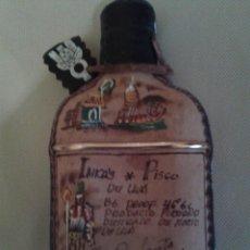 Botellas antiguas: BOTELLA INKAS DE PERU,(MOSTO DE UVA)VACIO,MUY BIEN DECORADA. Lote 51411816