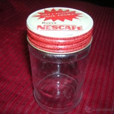 Botellas antiguas: BOTE DE CRISTAL DE NESCAFÉ. Lote 51656714