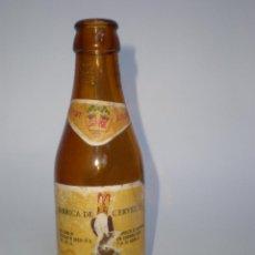 Botellas antiguas: BOTELLA CERVEZA *EL AZOR* 20 CL. ETIQUETA, AGUILA GRABADA EN CUELLO, CARTAGENA-MURCIA. Lote 52309897