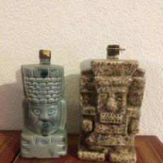 Botellas antiguas: BOTELLAS CERÁMICA MEXICANA TEQUILA AÑOS 60. Lote 52403101