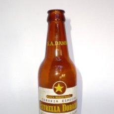 Botellas antiguas: BOTELLA CERVEZA ESTRELLA DORADA, 33 CL. MOD.2 -S.A. DAMM EN CUELLO- BARCELONA, SERIGRAFIADA. Lote 52543159