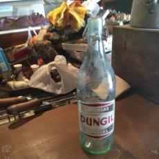 Botellas antiguas: ANTIGUA GASEOSA DE CRISTAL MARCA DUNGIL, GASEOSA ESPECIAL DE LOS AÑOS 50-60 CON TAPÓN DE PORCELANA . Lote 112787102