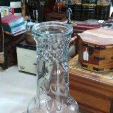 Botellas antiguas: TARRO O BOTELLA ANTIGUA DE CONFITURA EN CRISTAL TALLADO. Lote 52754767