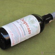 Botellas antiguas: OXIGENADO COÑAC DE JEREZ - DIEZ HERMANOS - JEREZ DE LA FRONTERA 11 DE FEBRERO DE 1909.. Lote 52787507